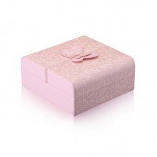 Travel Jewelry Case Faux Pu Leather Small Pink Jewelry Gift Box