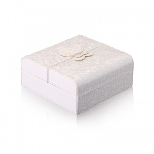 Travel Jewelry Case Faux Pu Leather Small White Jewelry Gift Box